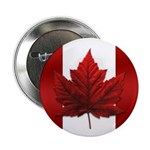 Canada Souvenir Button Maple Leaf Canada Flag Art