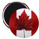 Canadian Flag Magnet Maple Leaf Art Souvenir