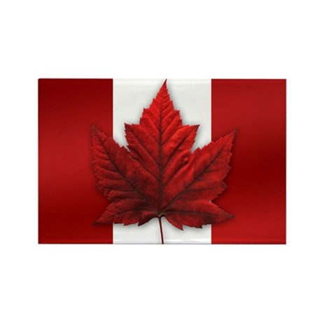 Canadian Flag Art Fridge Magnet Maple Leaf Souveni