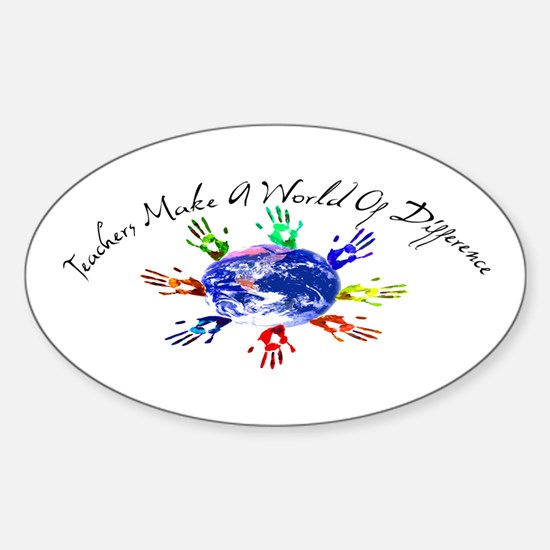 World of Difference Sticker (Oval)