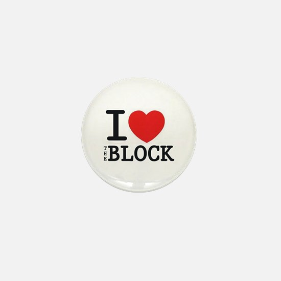 I <3 The Block Mini Button