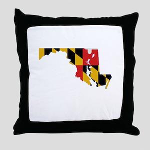 Maryland Stripe Custom Design Throw Pillow