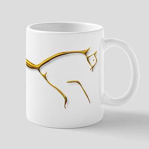 Uffington Horse - gold Mug