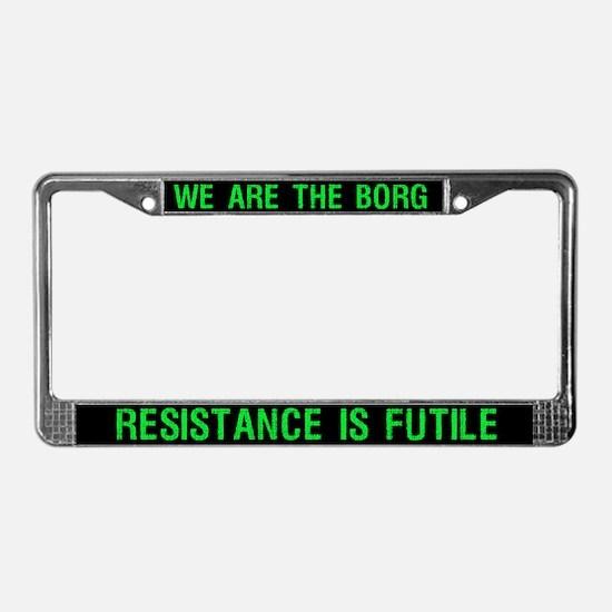 Borg License Plate Frame