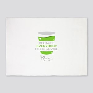 Everybody needs a vice, gin. path t 5'x7'Area Rug
