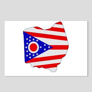 Ohio Stripe Custom Design Postcards (Package of 8)
