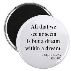 """Edgar Allan Poe 1 2.25"""" Magnet (10 pack)"""
