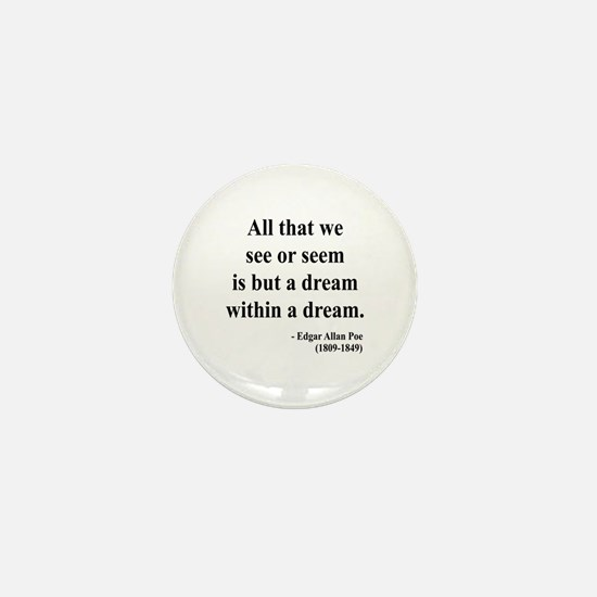 Edgar Allan Poe 1 Mini Button