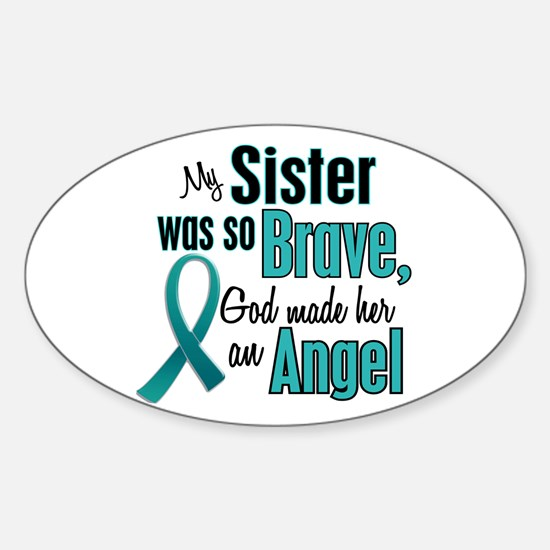 Angel 1 TEAL (Sister) Oval Decal