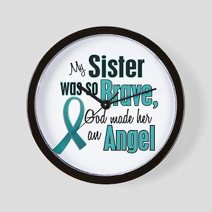 Angel 1 TEAL (Sister) Wall Clock