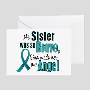Angel 1 TEAL (Sister) Greeting Card