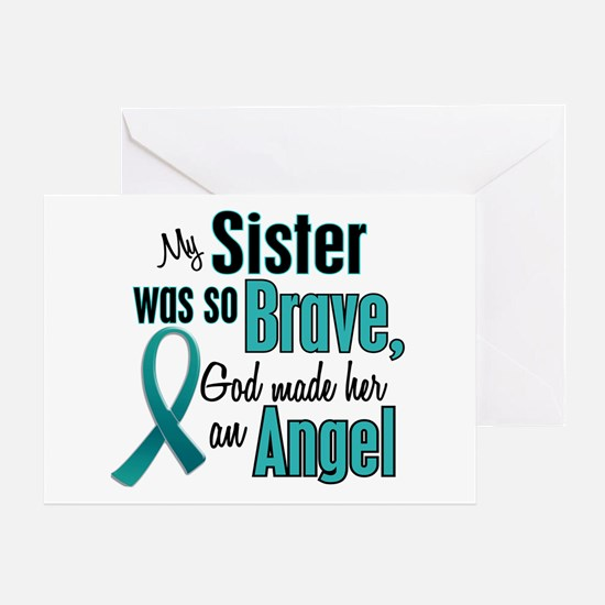 Angel 1 TEAL (Sister) Greeting Card
