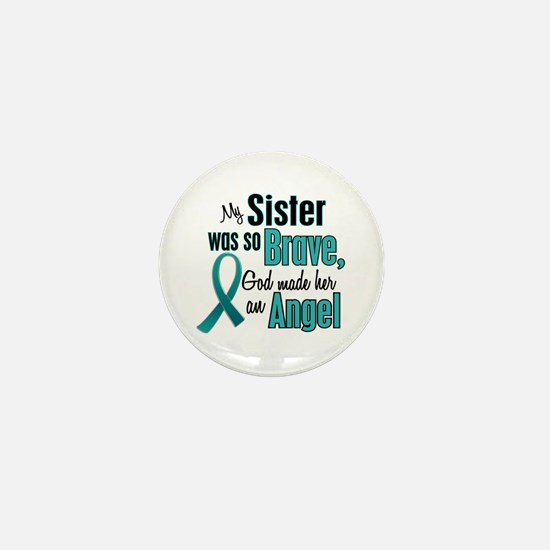 Angel 1 TEAL (Sister) Mini Button (10 pack)