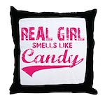 Real girl t-shirts Throw Pillow