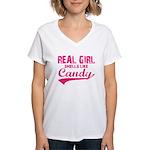 Real girl t-shirts Women's V-Neck T-Shirt