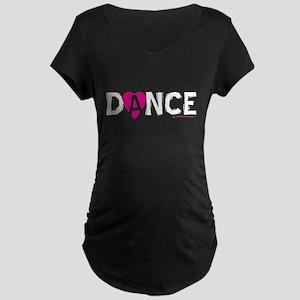 Love Dance Heart Maternity Dark T-Shirt