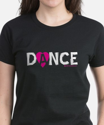 Love Dance Heart Women's Dark T-Shirt