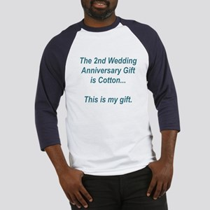 2nd Anniversary Gift Baseball Jersey