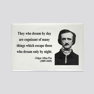 Edgar Allan Poe 3 Rectangle Magnet