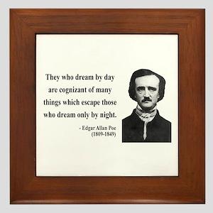 Edgar Allan Poe 3 Framed Tile