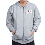 Zip Hoodie for Breast Cancer Awareness