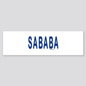 SABABA AWESOME Bumper Sticker