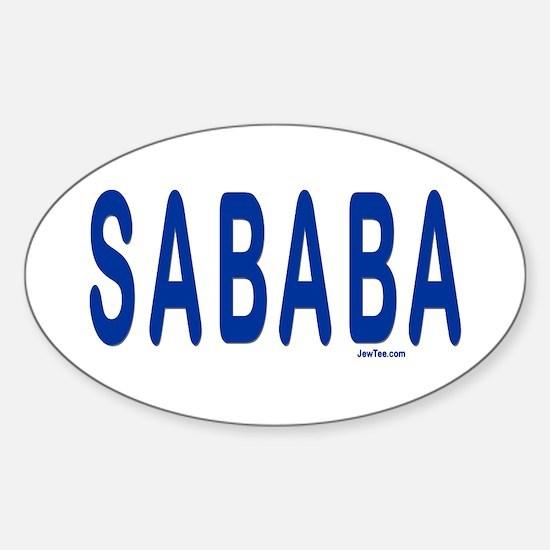 SABABA AWESOME Oval Decal