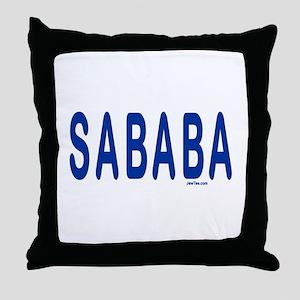 SABABA AWESOME Throw Pillow