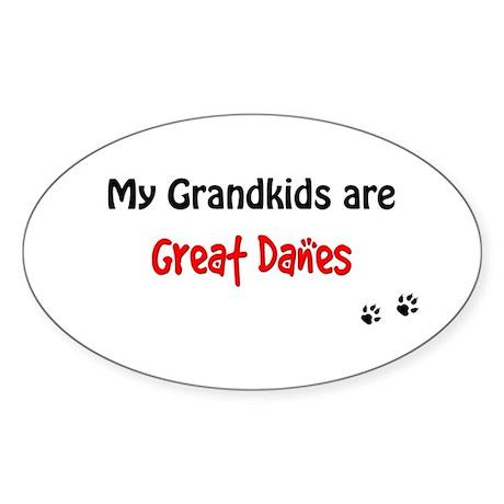 Great Dane Grandkids Oval Sticker