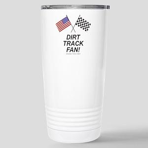 Dirt Track Fan Stainless Steel Travel Mug