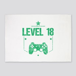 Gamer Shirt Level 18 Complete Gamin 5'x7'Area Rug