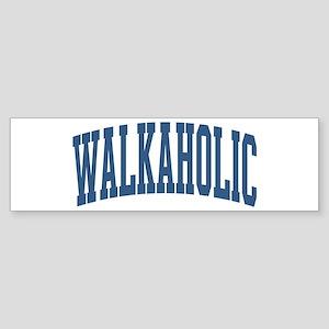 Walkaholic Nickname Collegiate Style Sticker (Bump