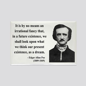 Edgar Allan Poe 4 Rectangle Magnet
