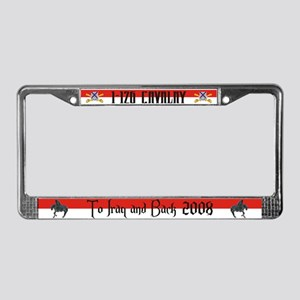 Iraq and Back License Plate Frame