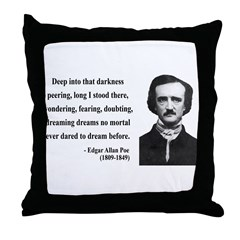Edgar Allan Poe 5 Throw Pillow