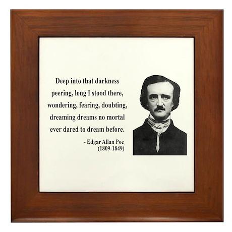 Edgar Allan Poe 5 Framed Tile
