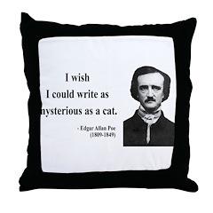 Edgar Allan Poe 6 Throw Pillow