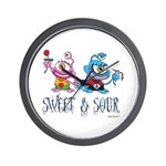 """Sweet & Sour"" - Wall Clock"