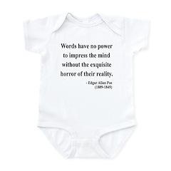 Edgar Allan Poe 8 Infant Bodysuit
