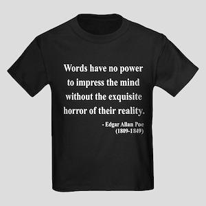 Edgar Allan Poe 8 Kids Dark T-Shirt