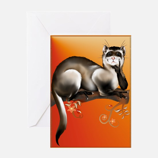 Ferret On A Branch Greeting Card