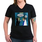 Vampire Hypnotherapist Women's V-Neck Dark T-Shirt