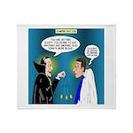 Vampire Hypnotherapist Throw Blanket