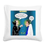 Vampire Hypnotherapist Square Canvas Pillow