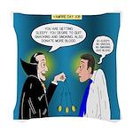 Vampire Hypnotherapist Woven Throw Pillow