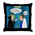 Vampire Hypnotherapist Throw Pillow