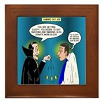 Vampire Hypnotherapist Framed Tile