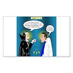 Vampire Hypnotherapist Sticker (Rectangle)