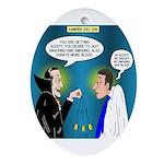 Vampire Hypnotherapist Oval Ornament