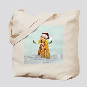 Winter Airedale Tote Bag